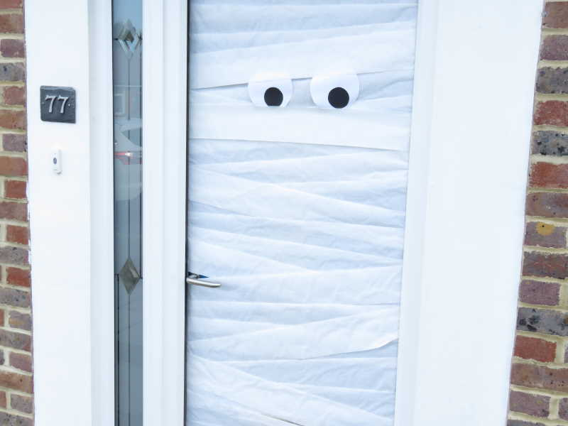 Mummified front door
