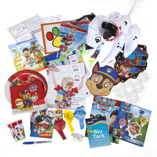 Paw Patrol party box contents