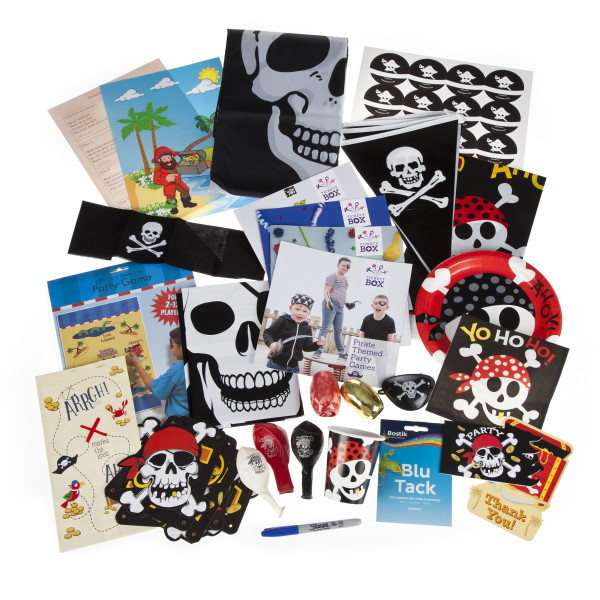Pirate party box contents